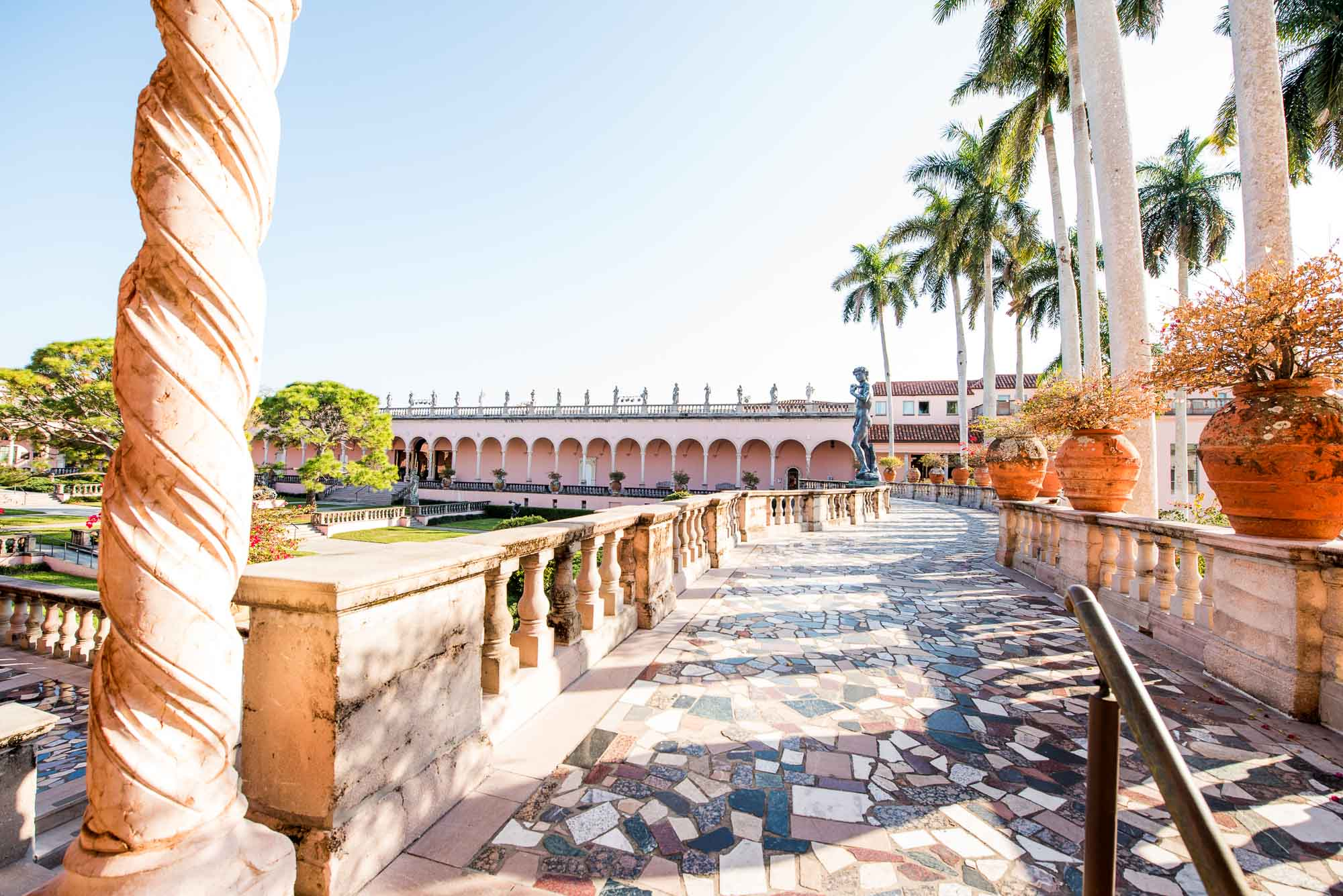 The Courtyard Of Ringling Art Museum